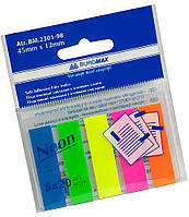 Закладки пластиковые с клейким слоем NEON 45x12 мм BM.2301-98 Buromax