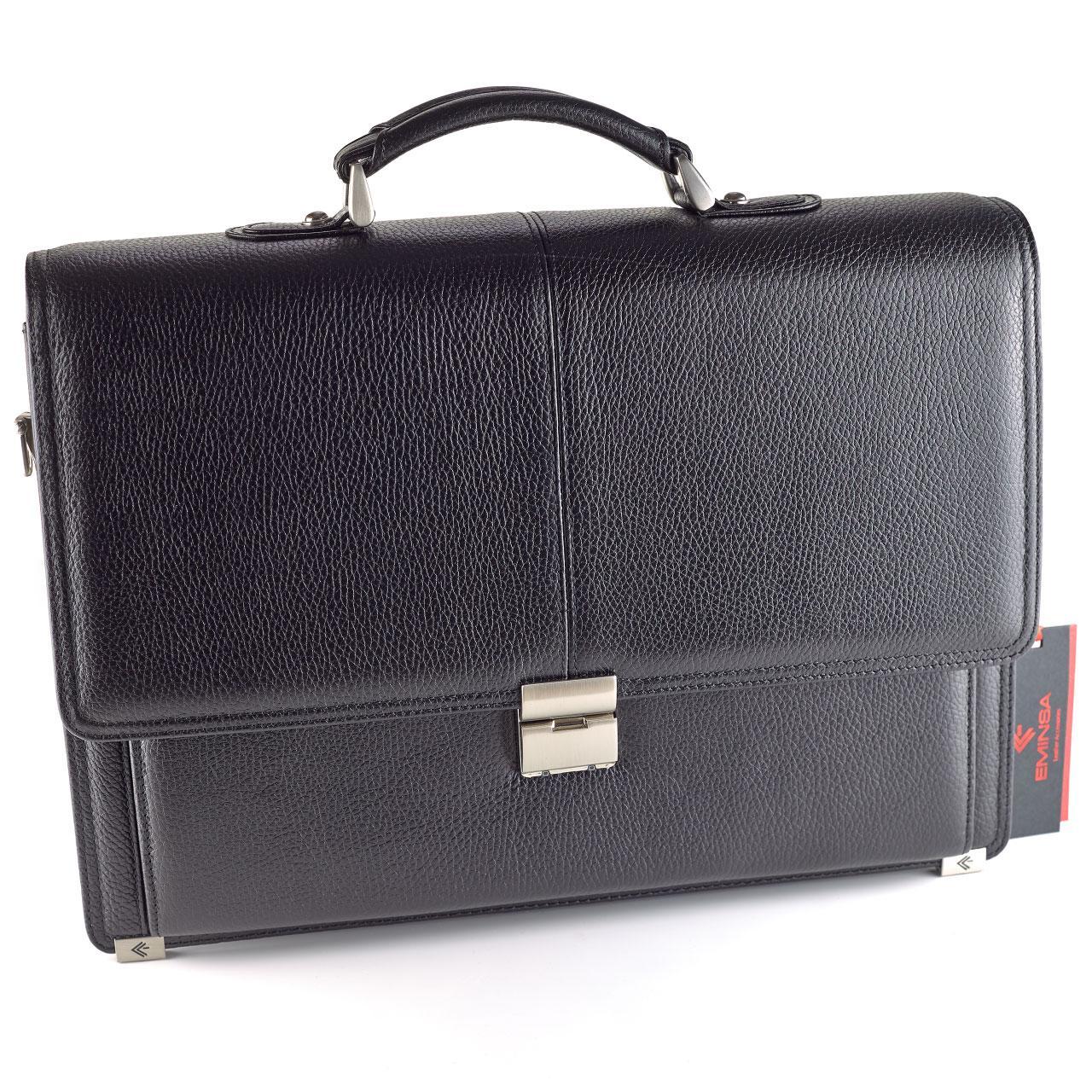 Портфель мужской Eminsa 7071-37-1 кожаный черный