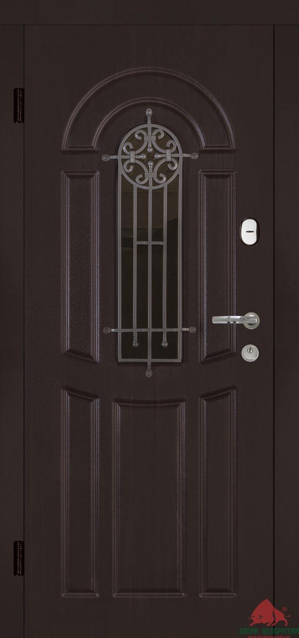 Дверь входная Двери Белоруссии Флора шоколад (крашенная)