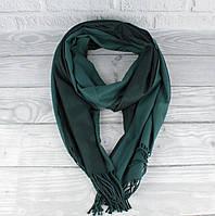 Двусторонний кашемировый шарф, палантин Cashmere 7280-12 бутылочный, расцветки