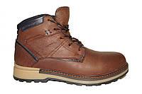 Ботинки на натуральном меху/искусственная шерсть коричневые