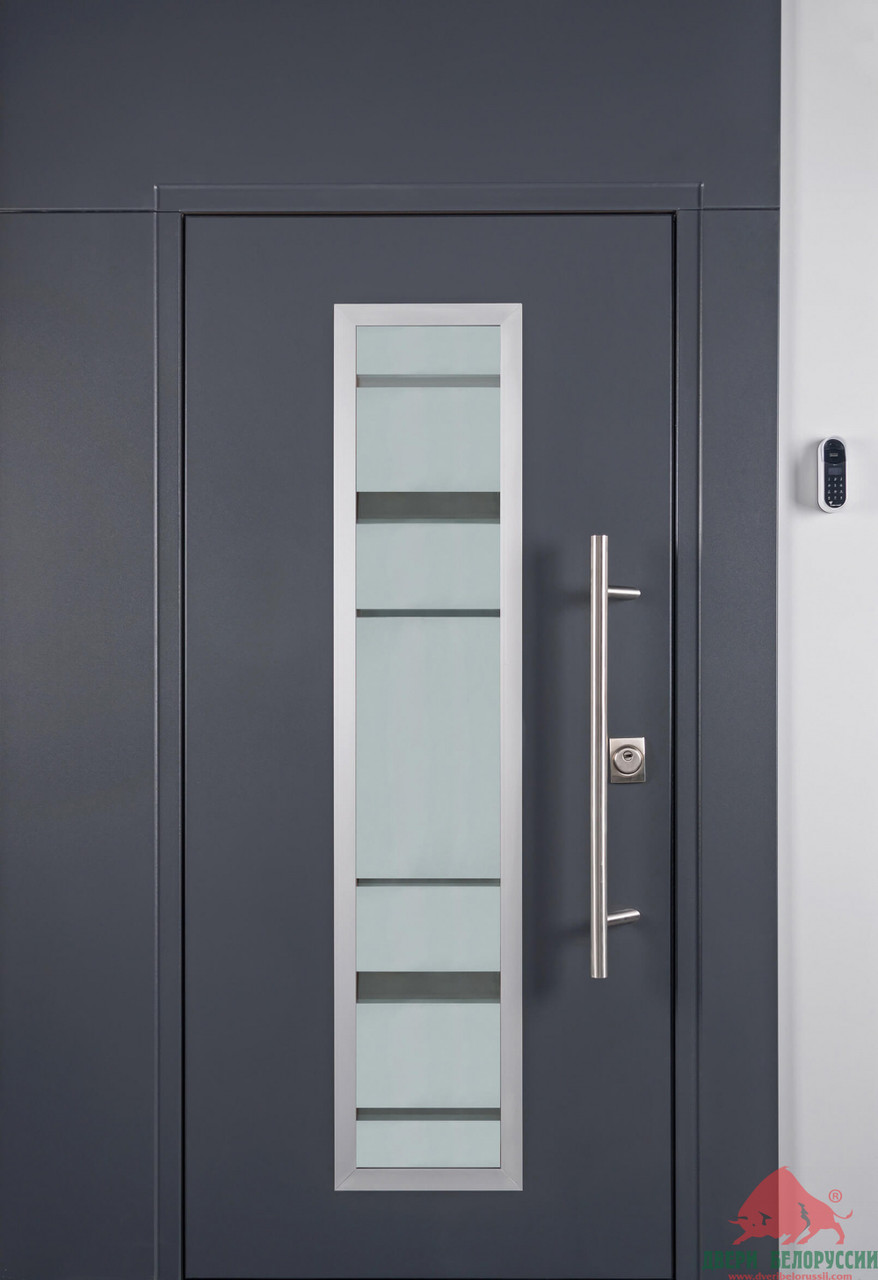 Дверь входная Двери Белоруссии В-3 со стеклопакетом (Выставочный образец)