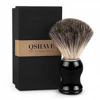 Оригинальные помазки QSHAVE для бритья,из натуральной барсучьей шерсти