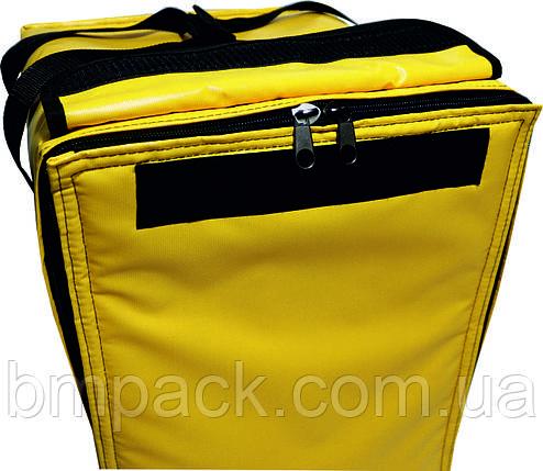 Терморюкзак для доставки пиццы ПВХ желтый, фото 2