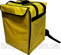 Терморюкзак для доставки пиццы ПВХ желтый, фото 3