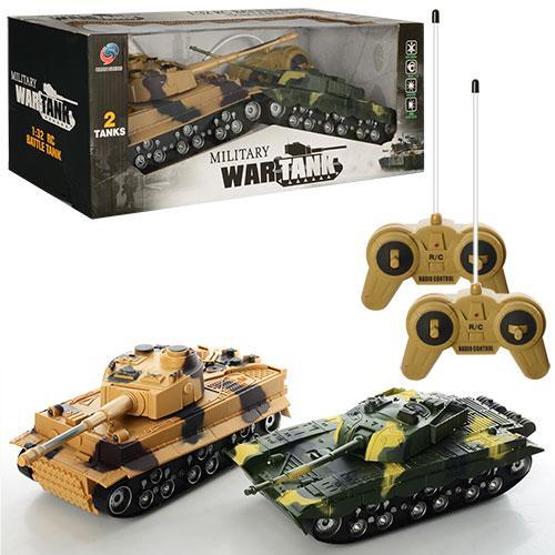Танковый бой на радиоуправлении 369-23 2 танка в наборе