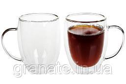 Набор термокружек стеклянных с двойными стенками, 350мл - 2 шт