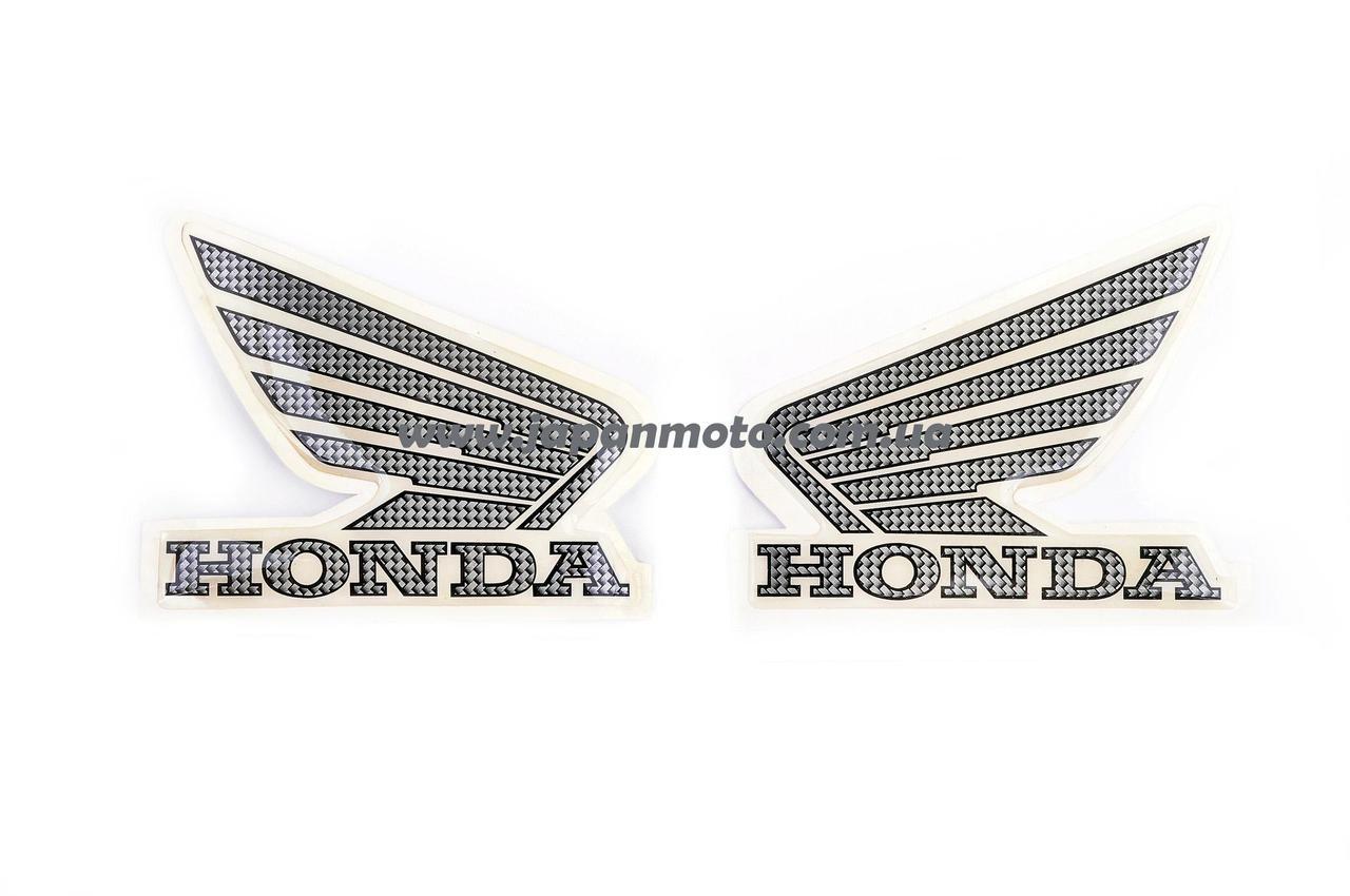 Наклейка логотип (mod:Honda 15x3см, 2шт, черный)