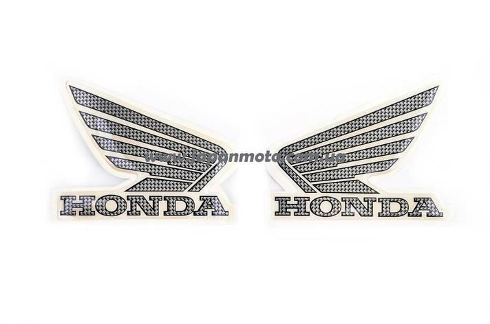 Наклейка логотип (mod:Honda 15x3см, 2шт, черный), фото 2