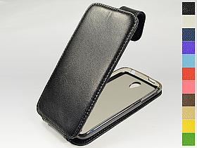 Откидной чехол из натуральной кожи для Lenovo S820