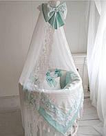 Бортики в кроватку, детское постельное белье, круглая кроватка