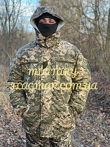 Военный зимний Бушлат Пиксель ВСУ ММ-14 на Овчине