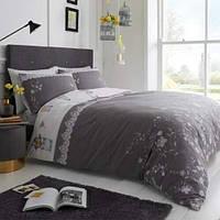 Постельное белье двухспальный  комплект серого цвета в наличии из Англии