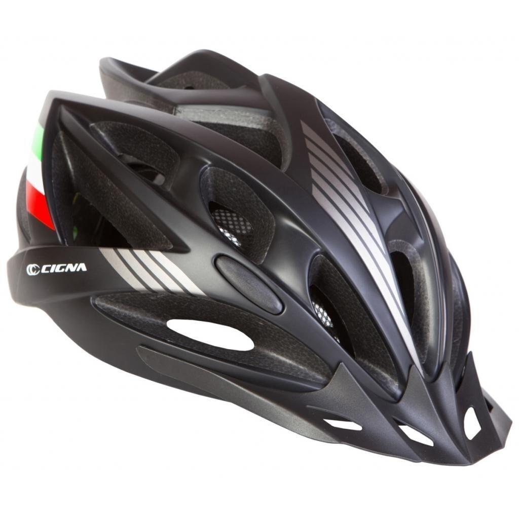 Шлем Velotrade с козырьком СIGNA WT-036 черный L (58-61см) (HEAD-011)