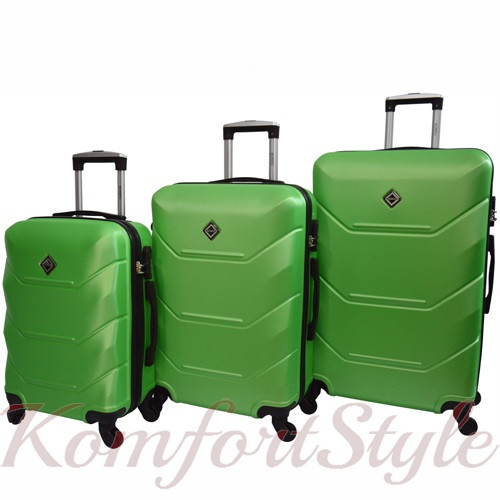 Дорожный набор чемоданов 3 штуки Bonro 2019 салатовый (10500305)
