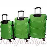 Дорожный набор чемоданов 3 штуки Bonro 2019 салатовый (10500305), фото 2