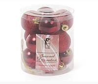 Набор елочных шаров Bonita Бордо 4 см, 12 шт (147-589)