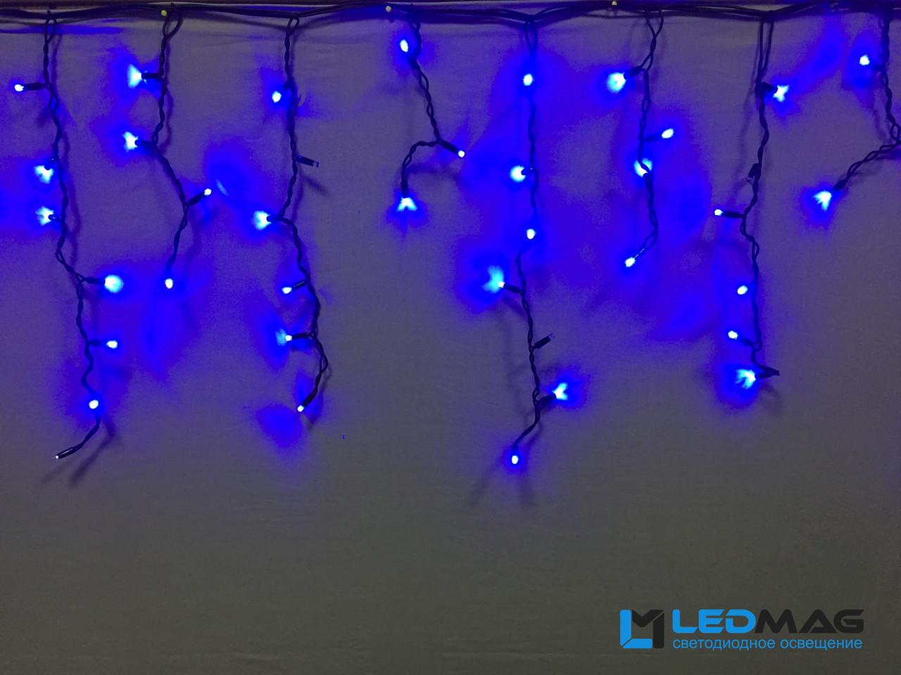 Светодиодная гирлянда уличная Бахрома Flash 3х0.7 м 100LED Каучук Синий