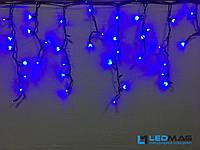 Светодиодная гирлянда уличная Бахрома Flash 3х0.7 м 100LED Каучук Синий, фото 1