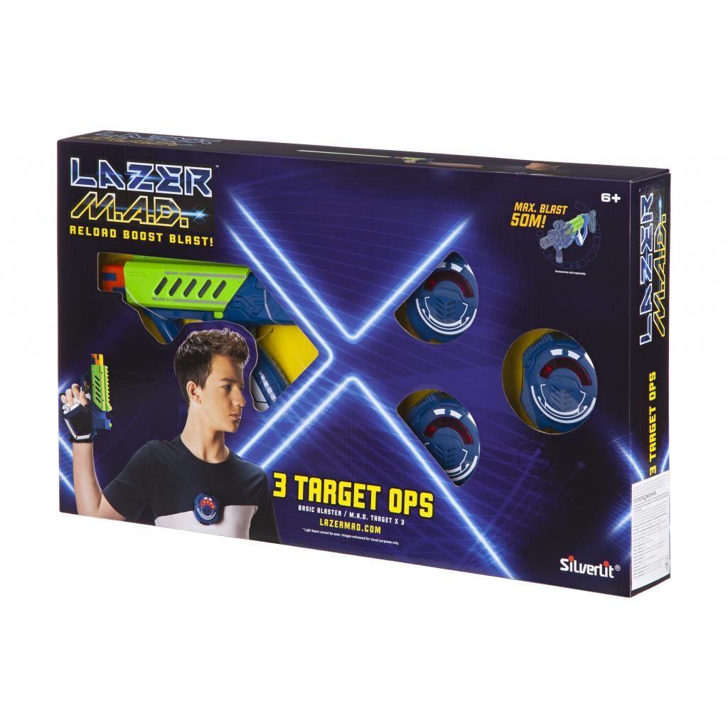 Игрушечное оружие Silverlit Lazer M.A.D. Тренировочный набор (1 бластер, 3 мишени) (LM-86846)