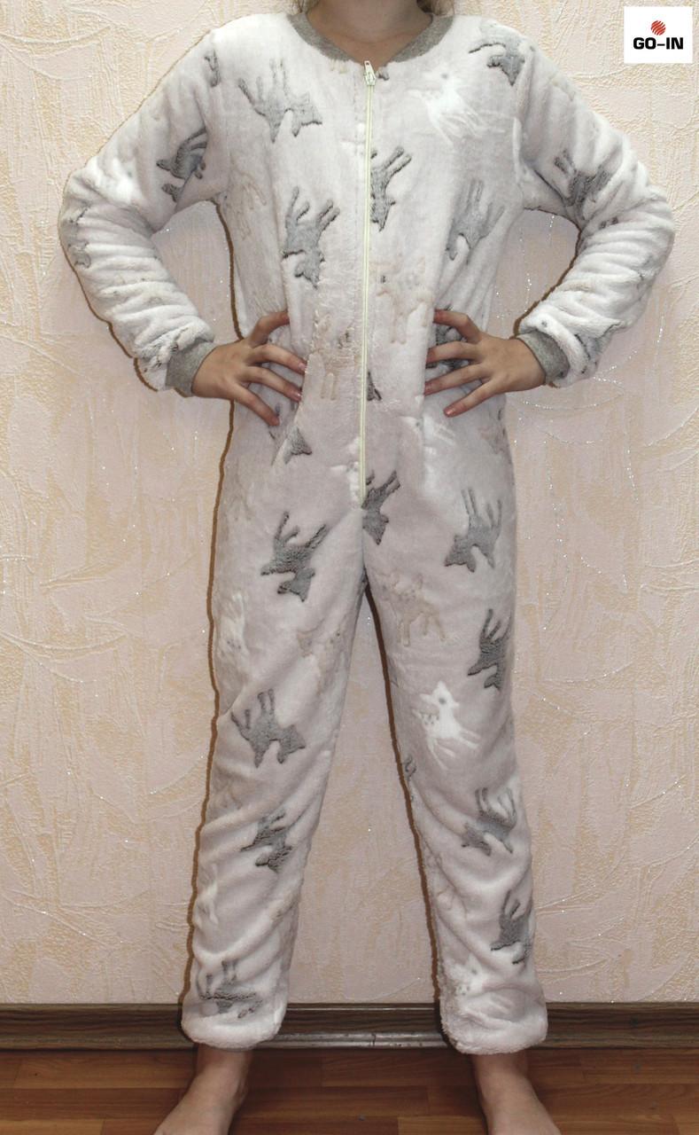 Пижама махровая детская тепла для мальчика Бемби р. 32-40