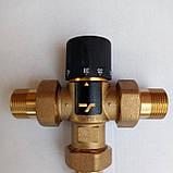 """Трехходовой термостатический смесительный клапан 3/4"""", 35-60 С (Вывод по центру), фото 2"""
