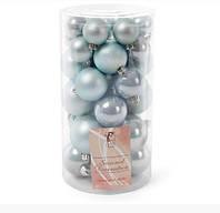 Набор елочных шаров Bonita Голубой микс 40 шт (147-274)