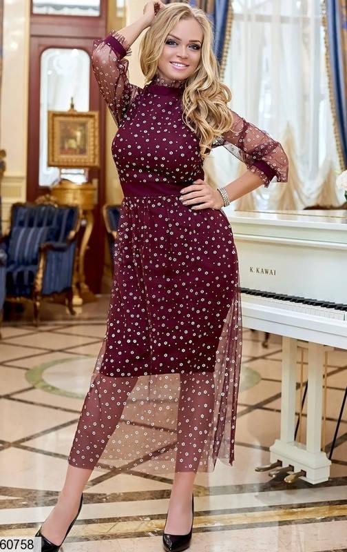 Вечернее платье больших размеров бордо, фото 2