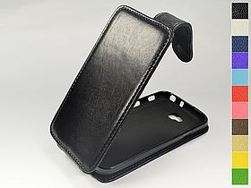 Откидной чехол из натуральной кожи для LG Optimus L70 Dual D325