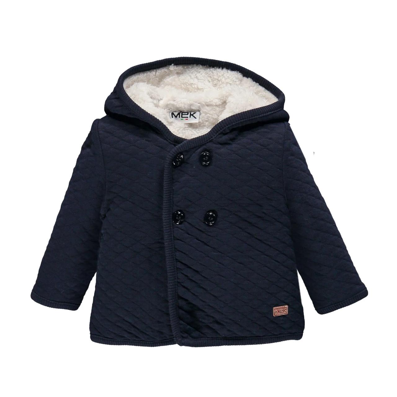 Утепленное пальто с капюшоном для мальчика  BRUMS 193MDAA001 синие 86