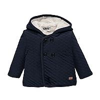 Утепленное пальто с капюшоном для мальчика  BRUMS 193MDAA001 синие 86, фото 1