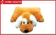 Подушка-игрушка Собачка 45 см медовый, фото 1