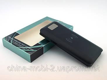 Powerbank HG908 Qi 10000мАч беспроводное зарядное устройство c дисплеем, черный