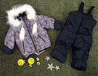 "Комплект зимний ""Мишки"" (куртка+брюки, р. 86-104,"