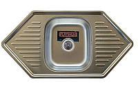 Врезная кухонная мойка Platinum 95*50 (мм) в покрытии Satin (матовая), с толщиной 0,8 (мм)