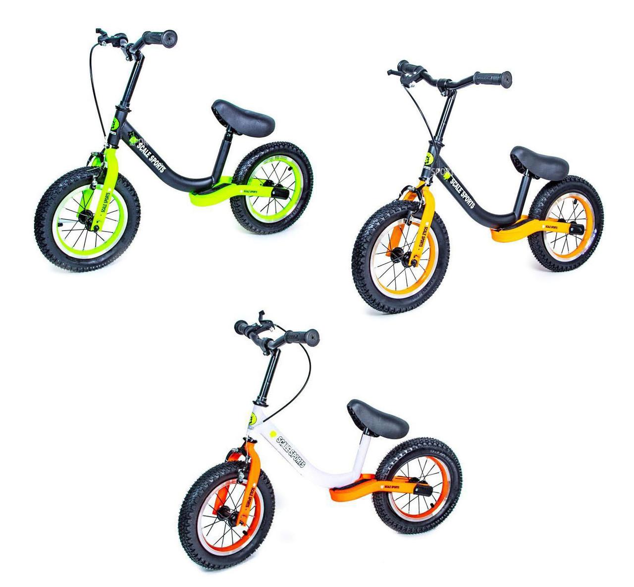 Беговел Велобег с ручным тормозом и надувными колесами Star Scale Sport