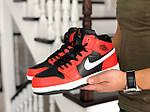 Мужские зимние кроссовки Nike Air Jordan 1 Retro (оранжево-белые), фото 4