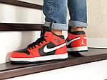 Мужские зимние кроссовки Nike Air Jordan 1 Retro (оранжево-белые), фото 5