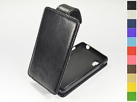 Откидной чехол из натуральной кожи для LG e440 Optimus L4 II