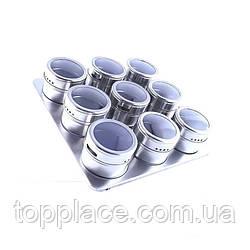 Набор для специй на магнитной подставке 10 предметов