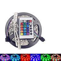 Разноцветная светодиодная лента с пультом RGB MOD-5050, 5 метров