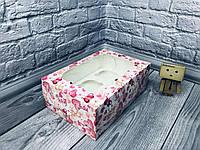 *10 шт* / Коробка для 6-ти кексов / 250х170х90 мм / печать-Мишарики / окно-обычн  / лк, фото 1