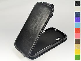 Откидной чехол из натуральной кожи для LG Nexus 4 e960