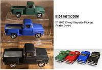 "Модель джип 5"" Chevy Stepside Pick-up (Matte Color) метал.инерц.откр.дв.кор.ш.к./96/(KT5330WM)"