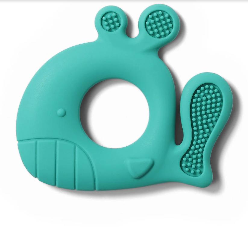 """Силиконовый прорезыватель для зубов """"Whale Pablo"""" Baby Ono"""