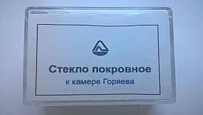Скло покривне до камері Горяєва 20х34х0,2 мм (100 шт/уп)