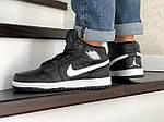 Мужские зимние кроссовки Nike Air Jordan 1 Retro (черно-белые), фото 3