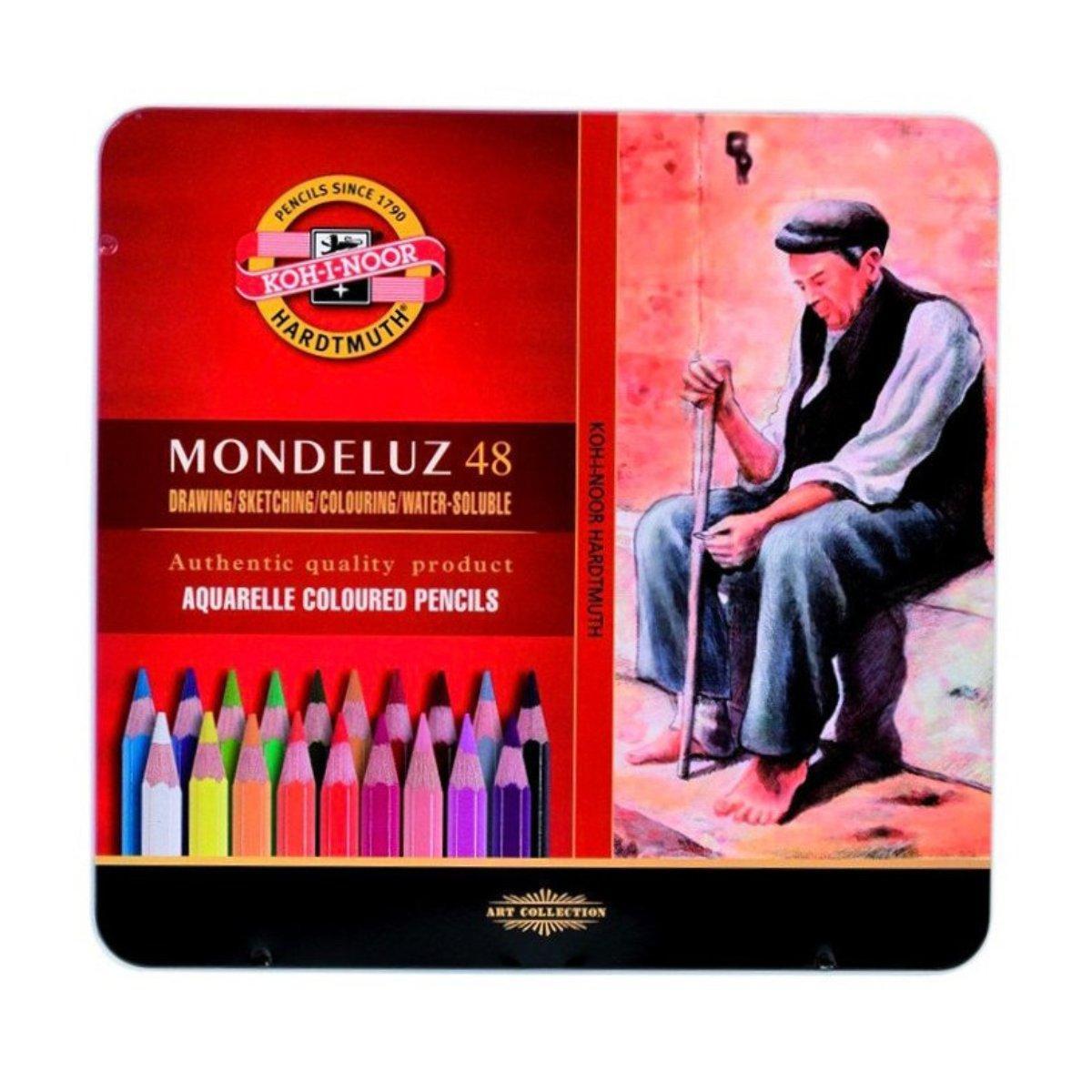 Набор цветных акварельных карандашей 48 шт. KOH-I-NOOR в металлической коробке 372604 Mondeluz