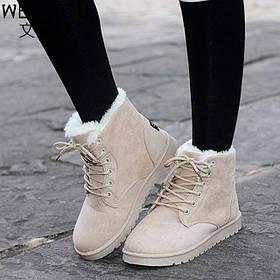 Стильные теплые зимние ботинки Нубук