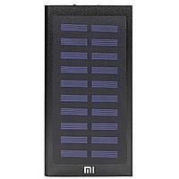 Power bank Xiaomi 20000 mAh Black c солнечной батареей для зарядки гаджетов портативный (Реплика)